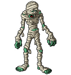 Cartoon mummy standing vector