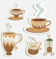 coffee designs vector image