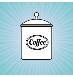 Coffee pot design vector