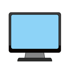 Color image cartoon front view computer display vector