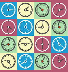 colorful clock icons vector image