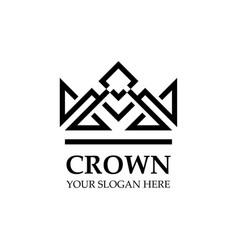 creative crown concept logo design template vector image