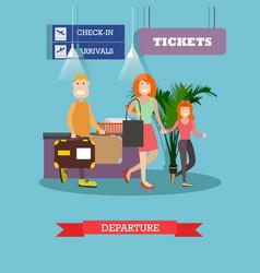 departure concept in flat vector image
