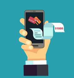 Electronic invoice mobile receipt online bill vector