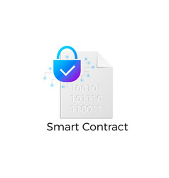 ethereum smart contract icon vector image