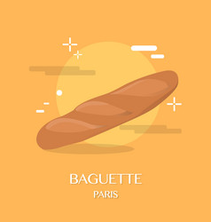 famous french cuisine baguette vector image