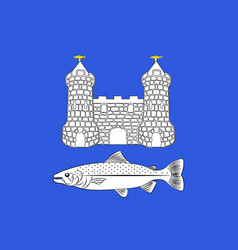 flag of chateaulin in finistere in brittany france vector image