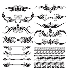 floral page decoration design elements vector image