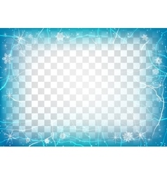 Frame of ice on transparent background Winter vector