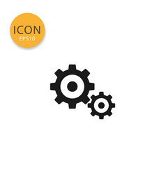 gears icon isolated flat style vector image