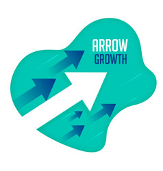 growth arrows moving forward direction concept vector image