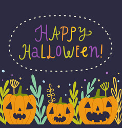 happy halloween beautiful greeting card vector image