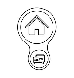 Home connection server icon vector