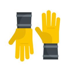 Honey gloves icon flat style vector