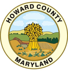Howard county seal vector