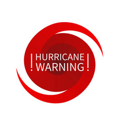 Informing hurricane warning sign vector