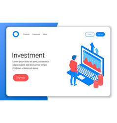 investment isometric concept vector image