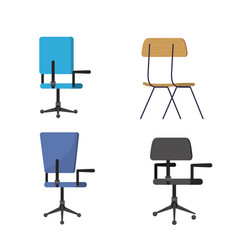 isolated chair design vector image
