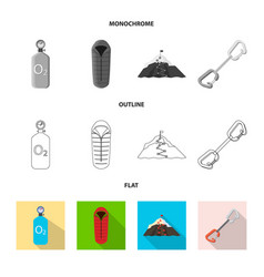 isolated object mountaineering and peak sign vector image