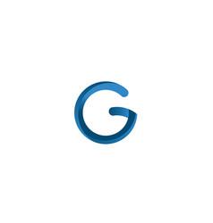 letter g modern logo design vector image