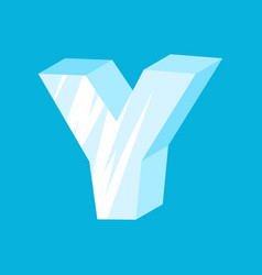 Letter y ice font icicles alphabet freeze vector
