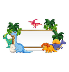 many dinosaur on whiteboard vector image