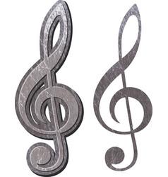 metal treble clef vector image