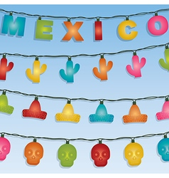 Mexican novelty lights vector