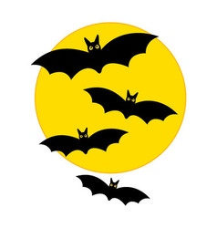 Moon with Bats - Halloween vector image