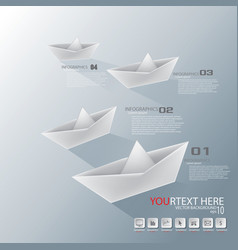 paper boat infographic vector image