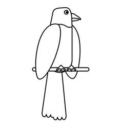 Parrot bird animal thin line vector