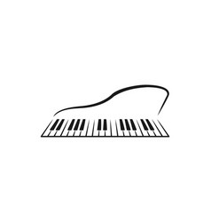 piano instrument musical logo designs inspiration vector image