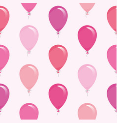 pink balloons seamless pattern background vector image