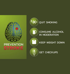 Prevention for stroke icon design infographic vector