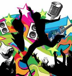 rock concert vector image