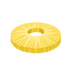 round peeled slice of sweet pineapple fresh and vector image
