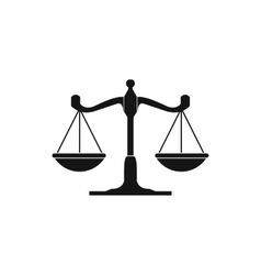 Scales of justice icon simple style vector