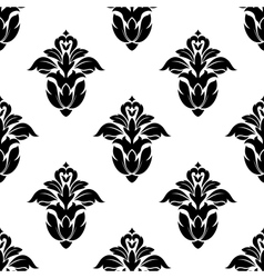 seamless pattern floral motifs vector image