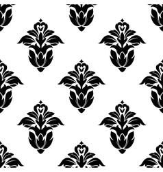 Seamless pattern floral motifs vector