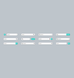 search bar button and ui internet browse shape vector image