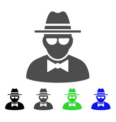 Secret agent flat icon vector