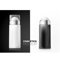 Set 3d realistic deodorant bottle on table vector