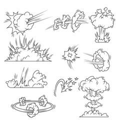 set explosion bubbles vector image