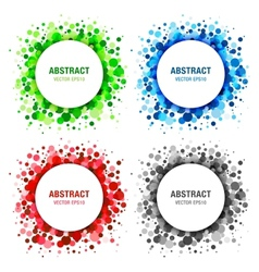 Set of Bright Abstract Circles Frames vector