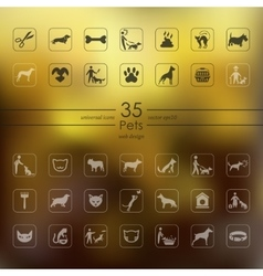 Set of pets icons vector image