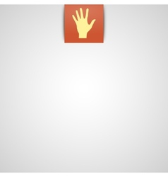 Simple gray background with hand icon vector