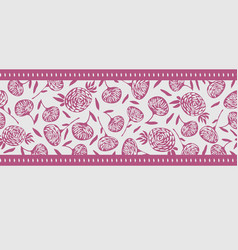 simple small scale floral seamless border vector image