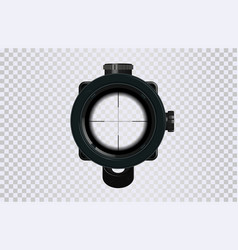 sniper scope crosshairs in realistic style vector image
