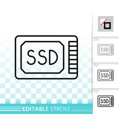 ssd simple black line icon vector image