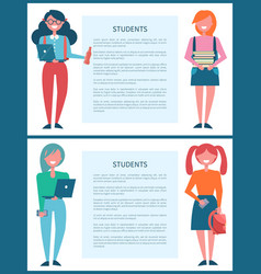 students age description vector image